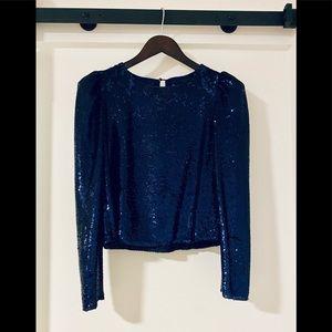 🖤SALE🖤 Zara - cropped midnight blue sequin top